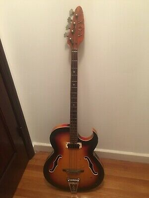 VINTAGE LATE 60's VOX SATURN IV BASS GUITAR Made In Italy -DAMAGED - Ships Free