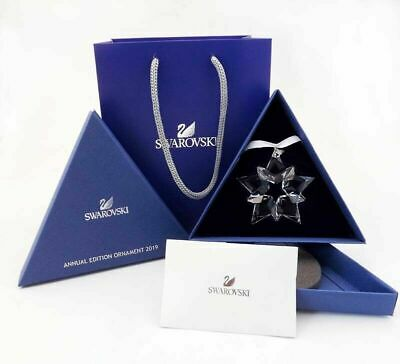 2019 Swarovski Crystal ANNUAL EDITION LARGE CHRISTMAS ORNAMENT STAR &BEAUTY BOX