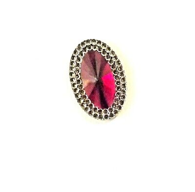 Needle Minders  for Crosstitch Needle Keeper Magnetic Needle Holder Oval Ruby