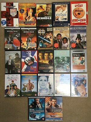 Bundle Of 22 DVDs (Die Hard, Titanic, Bond, Top Gun & More)