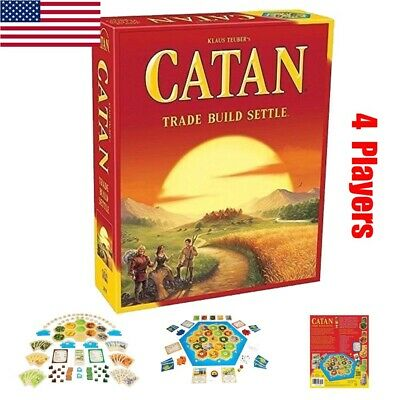 New Settlers of Catan Board Game 5th Edition Halloween Party Game  Gift 4 Player