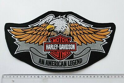 Harley Davidson Classic Orange Logo Sew-on Big large Patch  embroidery back