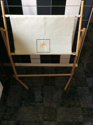 Large Wooden Frame Tapestry/Cross Stitch