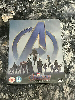 Avengers: Endgame - 3D Steelbook + 2D Blu-ray NEW SEALED SAME DAY DISPATCH