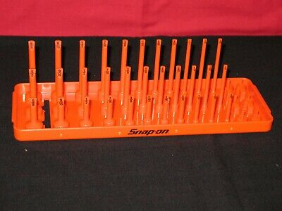 """SNAP ON TOOLS 1/4"""" A/F SAE Post 3-Row Socket Tray in Orange"""