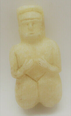 Circa 3000Bce Ancient Near Eastern Calcite Crystal Carved Idol Very Rare