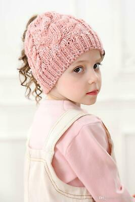 Warm Baby Girls Kids Adults Knitted Woolen Headgear Cap Hats
