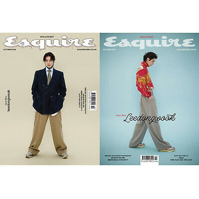 Lee Dong Wook Random COVER ESQUIRE Korea Whole Magazine October 2019 Tracking