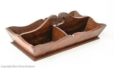 Antique Figured Walnut Decorative Three Division Butlers Cutlery Tray Box
