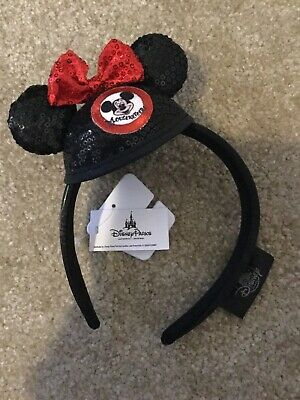 Disney Parks Mickey Mouse Club Ears Sequin Bow Mini Mouseketeers Headband - NWT