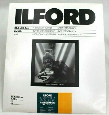 """Ilford Multigrade IV RC DeLuxe Photographic Paper Satin 8"""" x 10"""" (25 Sheets)"""