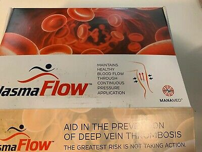 ManaMed PLASMA FLOW DVT Prevention Therapy System For Both Legs w/ Charger