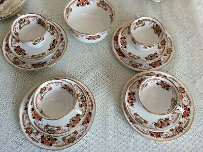 Antique /Vintage Royal Albert CROWN CHINA  Cups Saucers plates  #4705  c.1917-27