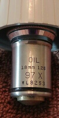 Bausch & Lomb 97X Oil 1.8mm 1.25 Objective Cat# WL8253 With Case !