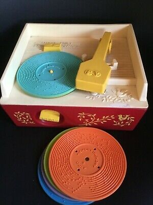 Fisher-Price Classic Toy - Record Player Nr 995  working , With 5 records