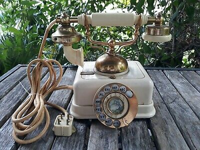 Vtg Rotary Automatic Dial Telephone Model DO-8 Victorian French Style Made Japan