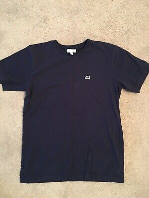 Navy Blue Lacoste T Shirt. Aged 16. Good condition.