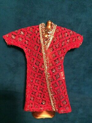 Kresge HTF Diamond Print Red Lace Robe Only No Doll Included Rare Clone Outfit