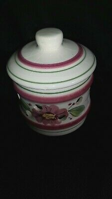 Vintage porcelain pot pourri / tealight  pot with lid