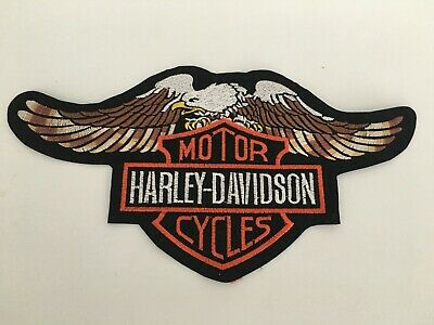 "Brand New HARLEY DAVIDSON Large Eagle 10 1/2"" x 5 1/2"" Iron or Sew-On Patch"