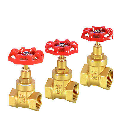 "Brass Gate Valve Stop Tap BSP 1/2"" 3/4""1""Globe Valve -Female- Industrial Process"