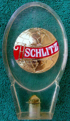 Schlitz Draft Beer Tap Pull Handle Knob Golden Globe Used Vintage Acrylic Rare