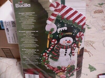 Bucilla Stocking Kit Candy Snowman 18 Inches