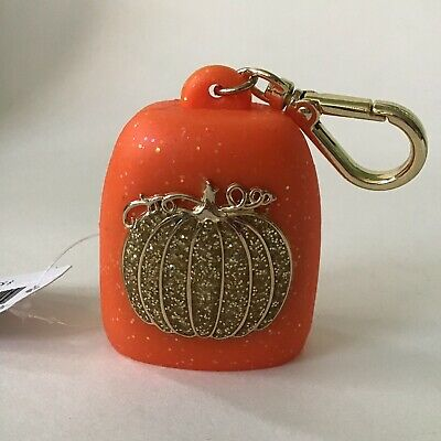 Bath & Body Works Sparkly Pumpkin Pocketbac Orange And Gold New