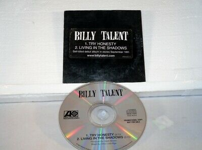 Billy Talent - Try Honesty / Living in the Shadows -  Promo Only CD Single (STCD