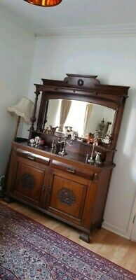 Antique Dresser Edwardian  Victorian Sideboard  Dresser Chiffonier with Mirror