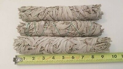 "9"" White Sage Smudge Stick WandHerb Spiritual Healing Cleansing Lot 3/ Bundle"