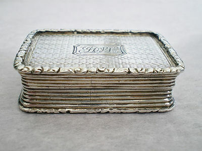 Antique Georgian Silver Vinaigrette c1827 by Joseph Willmore