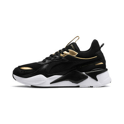 New Puma RS-X Trophy Black Gold Sports Lifestyle Sneakers Shoes 36945101 2019
