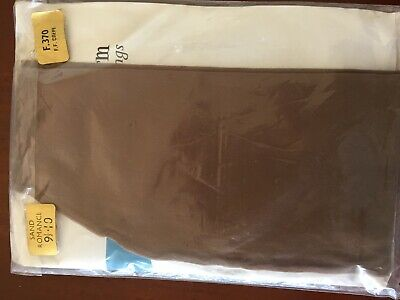 Lucky Charm Fully Fashioned Seamed Crepe Stockings size 9.5-10 dark colour