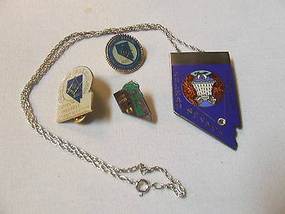 Zelzah Temple Shrine Masons Pin Pins necklace Grouping of 4 Las Vegas Nevada