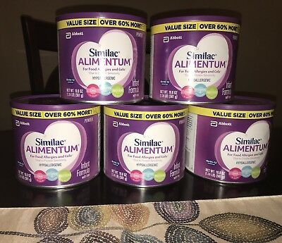Similac Alimentum  19.8 oz - 5 big cans - FAST Shipping