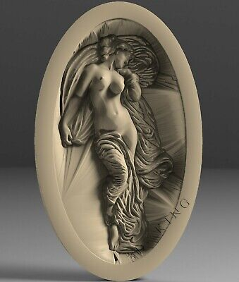3D STL Model # WOMAN IN THE BED # for CNC Aspire Artcam Carving Engraver ASPIRE