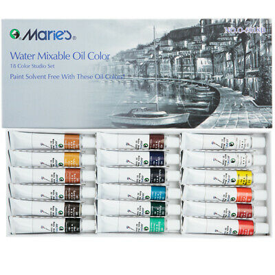 Marie's Water Soluble Oil Colors 18 Set 12ML Tubes Solvent-Free