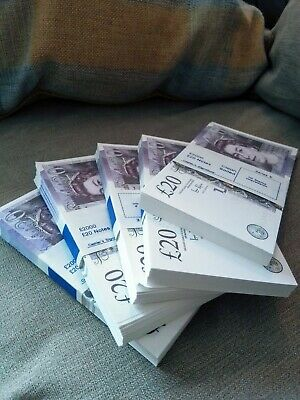 🔥10 x £20 Notes Realistic UK Pounds Prop Money  ACTUAL SIZE - FAST SHIPPING 🔥