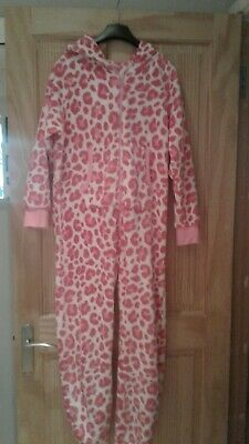 Girls Animal print all in one pjs from Next size 12 years