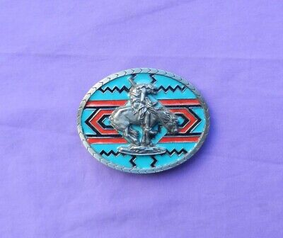 Belt Buckle Native American Indian Tribal END OF THE TRAIL Heavy Vintage