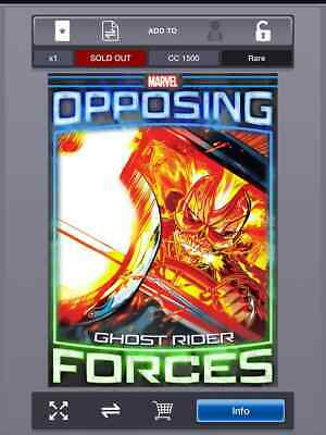 Topps Marvel Collect Opposing Forces Ghost Rider Mephisto digital card