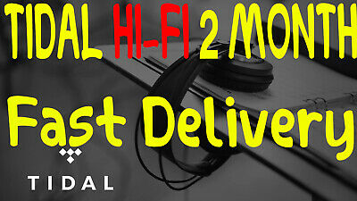 🎧TIDAL Hi-Fi 2 Months FAMILYPlan +5 users | GUARANTED FAST DELIVERY | MUSIC