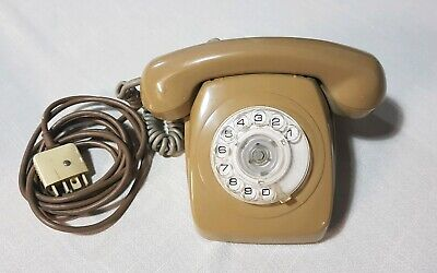 Vintage AWA Rotary Dial Brown Telephone
