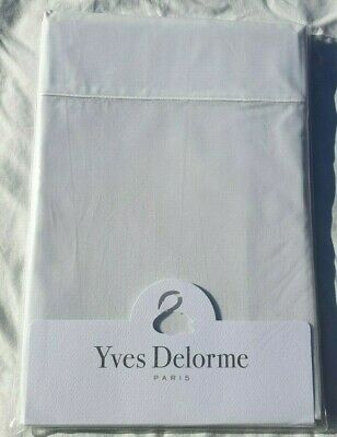 Pair Of Yves Delorme Pillowcases 100% Cotton In White Bnwt