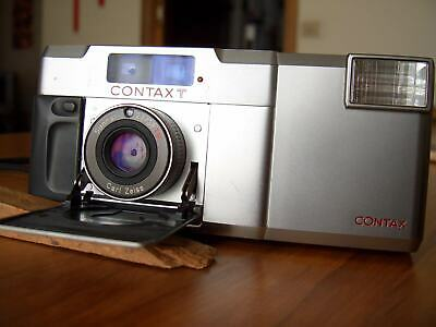 CONTAX T, 35mm rangefinder camera, CARL ZEISS 38MM F2.8 T lens, JAPAN
