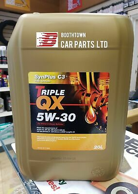Triple QX SynPlus 5W30 C3 Fully Synthetic Car Engine Oil 20 Litres Low SAPS 20L*