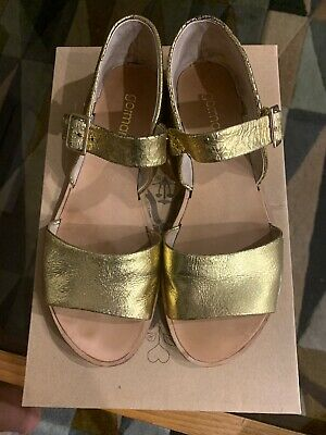 Gorman Gold Leather Sandals Size 38