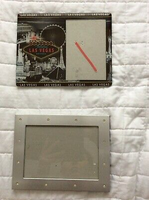 Two Picture Frame. Pre-owned. 1 Las Vegas Frame 1 Normal Frame.