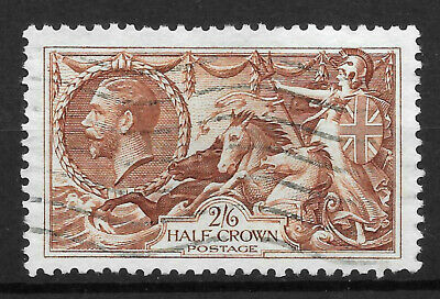 GB KGV 1934, SG450 2s6d.Chocolate-Brown Seahorse. Fine Used.
